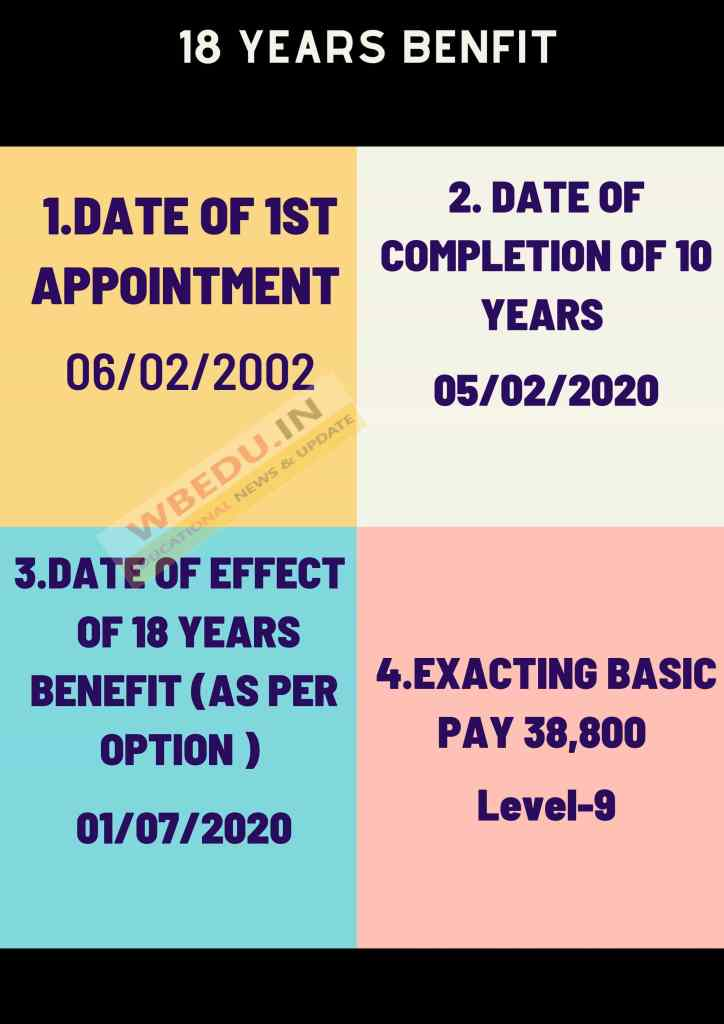 18 YEARS INCREMENTS BENEFIT