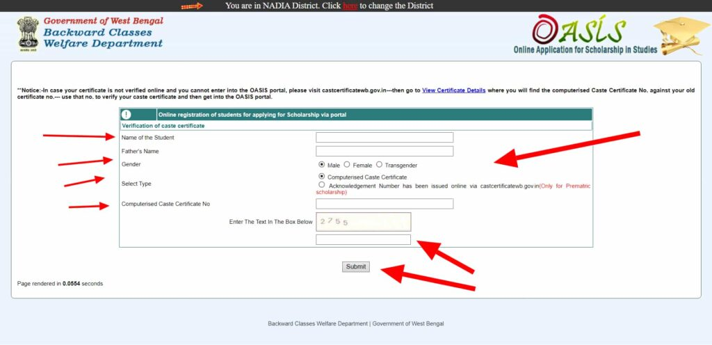 Oasis Portal New Registration