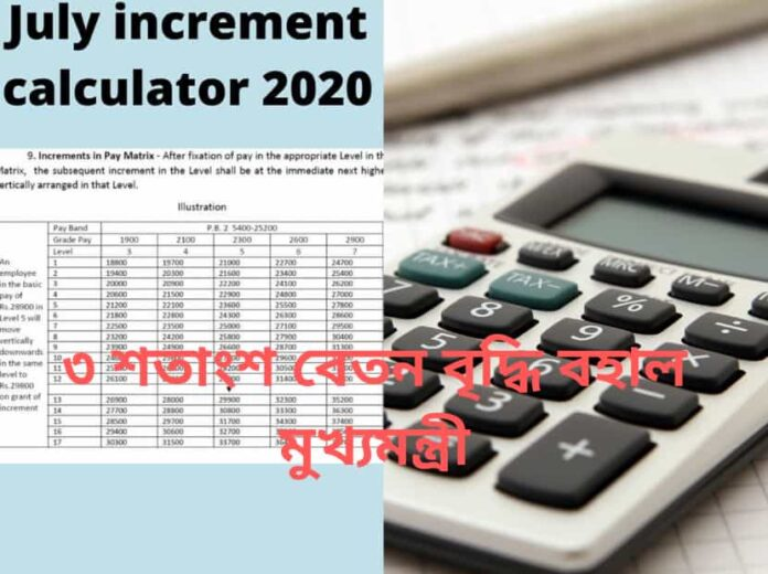 July increment calculator 2020