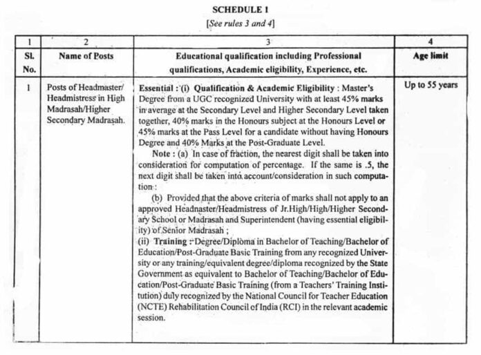 Madrasah_Service_Commission_Recruitment_Rules