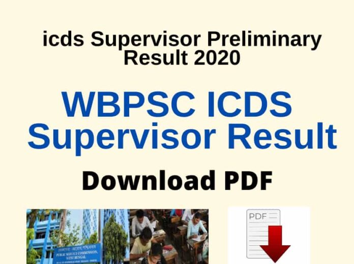 WBPSC_Icds_Supervisor_Result