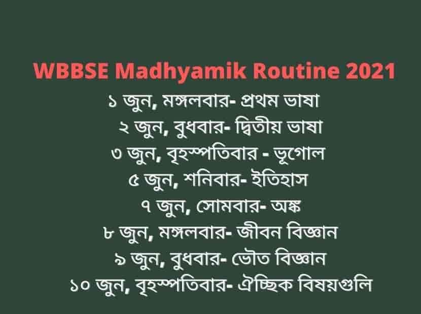 Madhyamik_routine_2021
